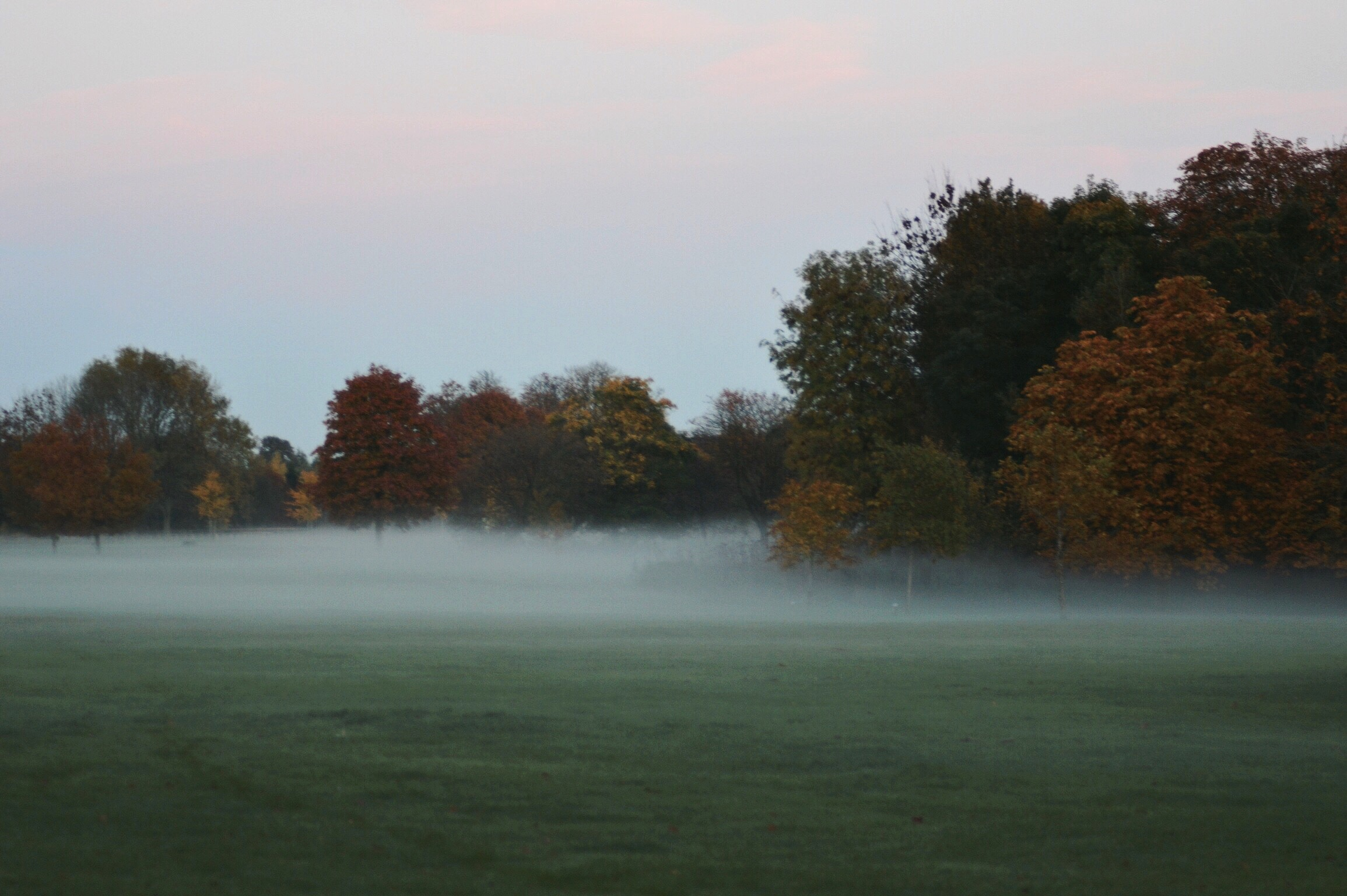 29 Misty evening in Market Bosworth