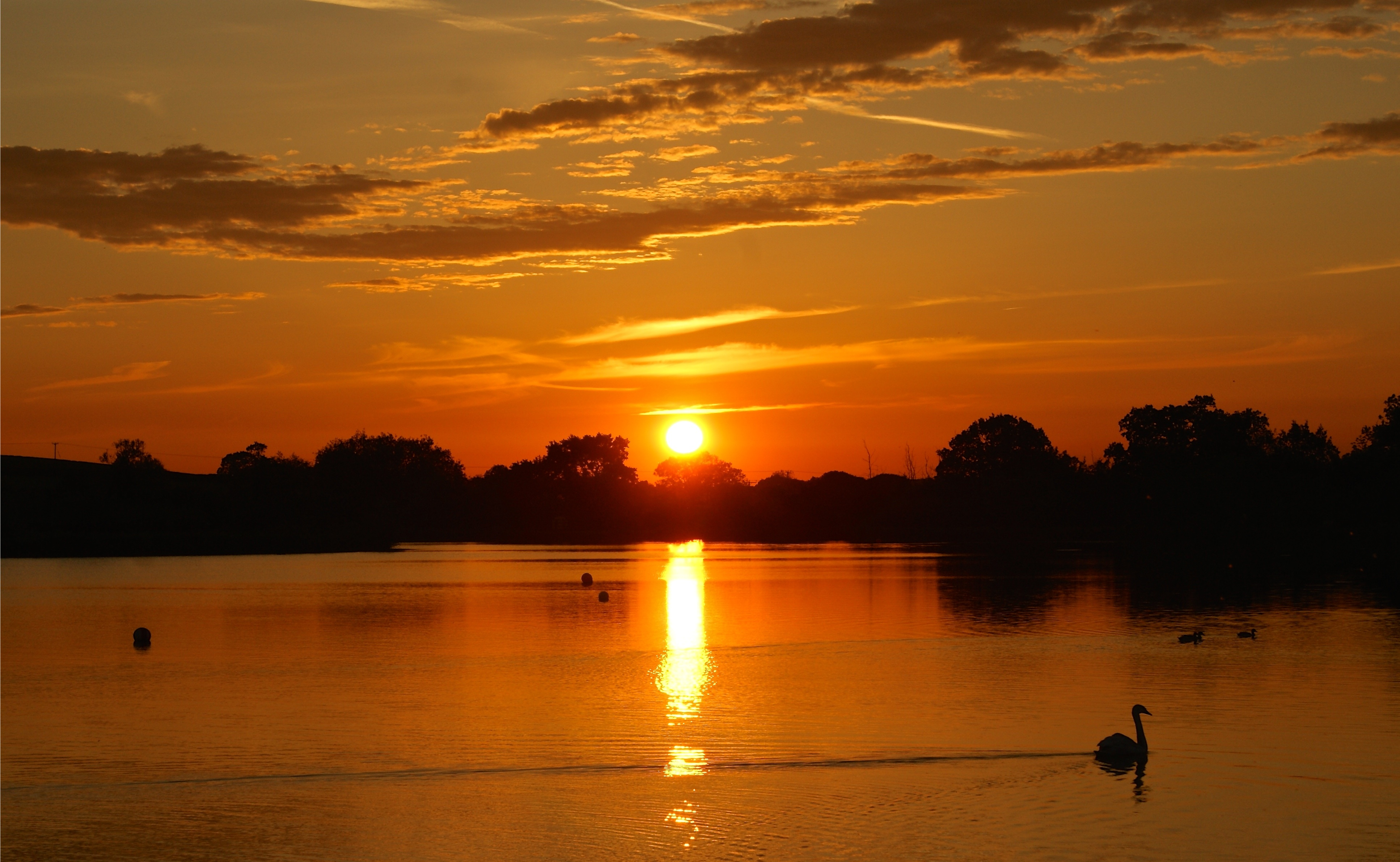 48 Burnt orange sky at Bosworth Water Park