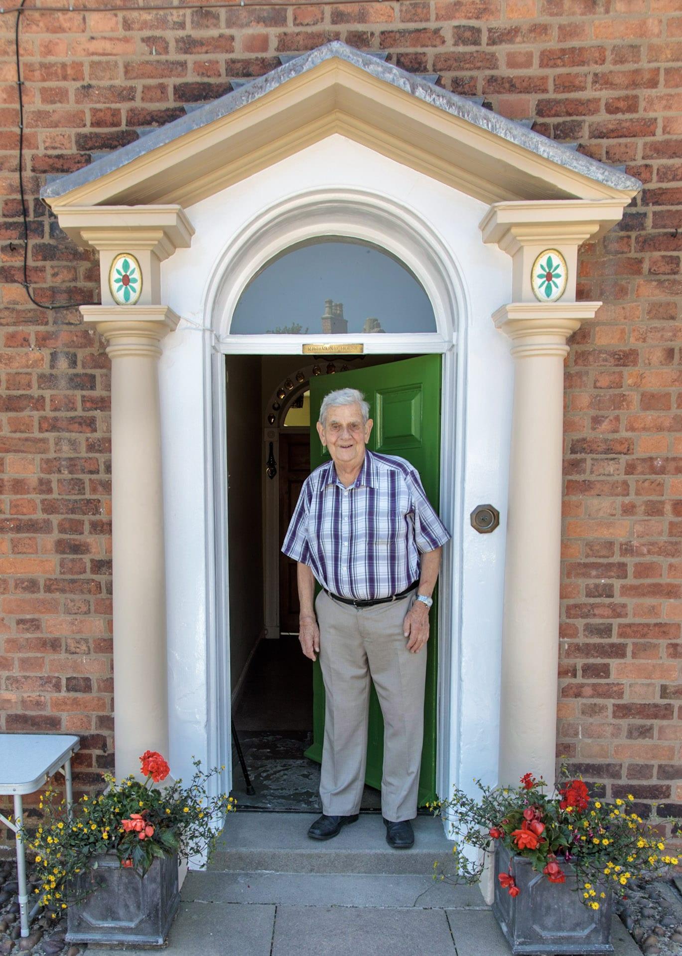 Dick-at-front-door