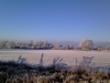 27 Frosty fields and clear blue sky